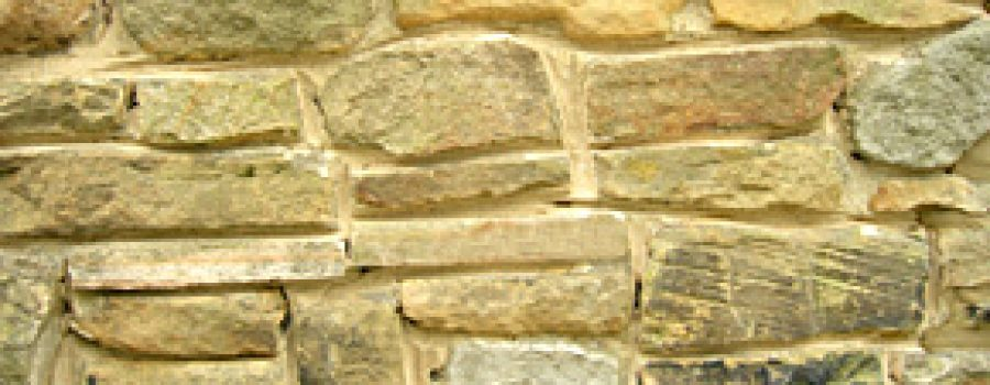 Repointing of cottage walling